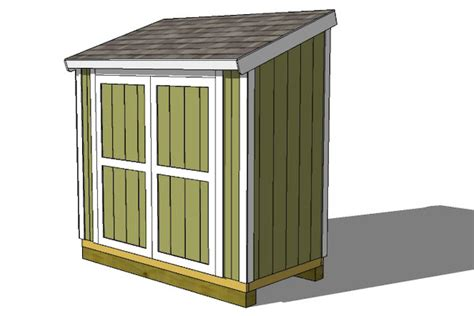 4 X 8 Lean To Shed by 4 215 8 Shed Plansshed Plans Shed Plans