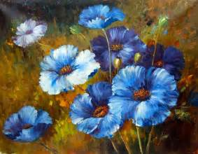 Painting With Flowers - blue flower paintings images amp pictures becuo
