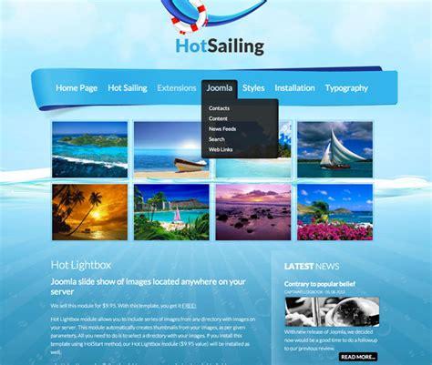 joomla sailing template hot sailing
