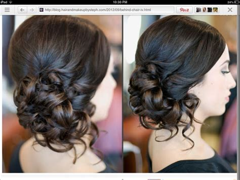 formal hairstyles bun back for prom hairstyles side bun curls medium hair