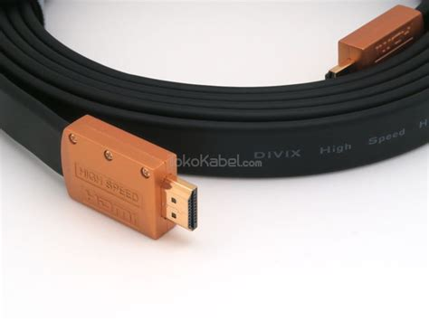 Kabel Hdmi Flat Color kabel hdmi divix flat series tokokabel