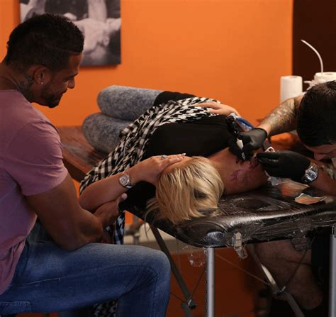kerry katona tattoo on shoulder kerry katona and george kay get matching tattoos ok