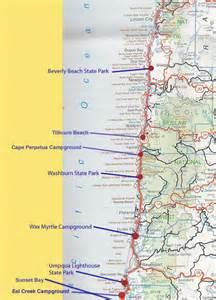 Oregon Coast Trail Map by Teardrop Trails Oregon Coast