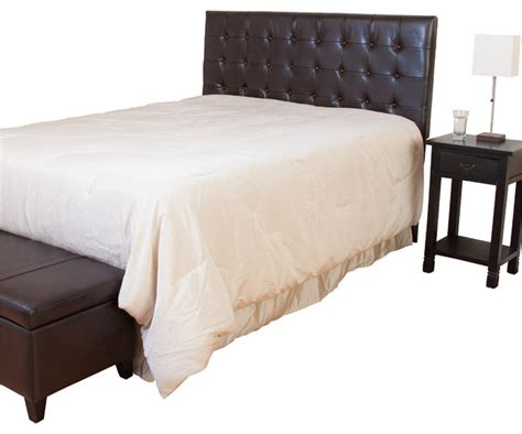 Brown Leather Headboard Lansing Brown Leather Headboard Contemporary Headboards By Great Deal Furniture