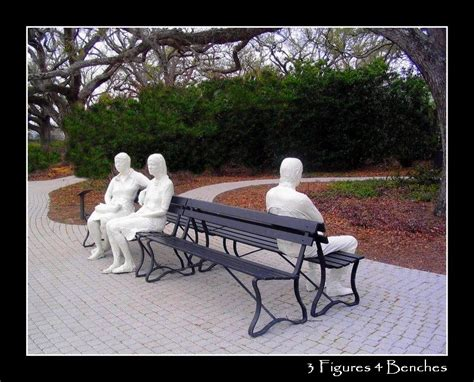 three figures and four benches treklens 3 figures 4 benches photo