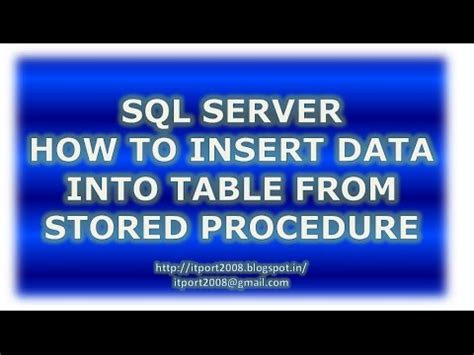 insert into temp from stored procedure insert into select from stored procedure youtube