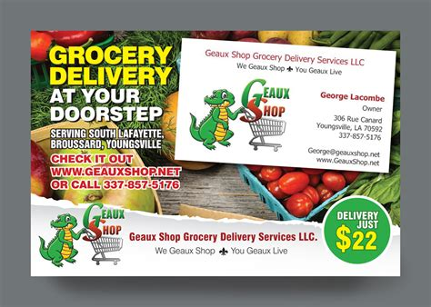 traditional personable postcard design for geaux shop