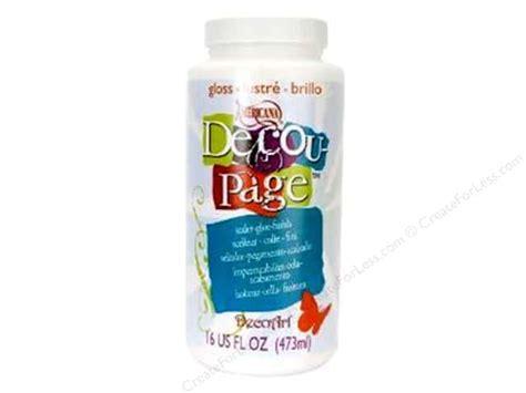 Decoupage Glue And Sealer - decoart adhesive decoupage glue sealer gloss16oz