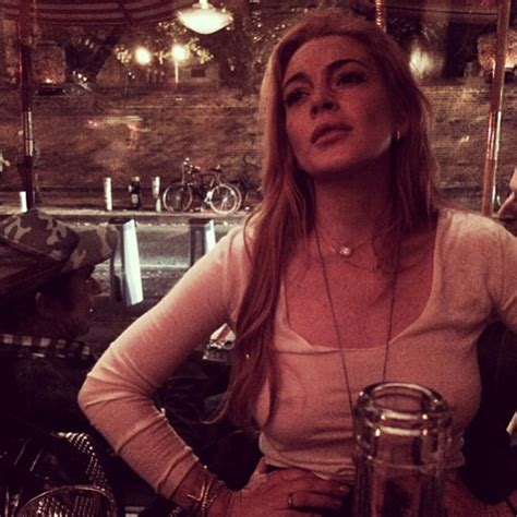 Lindsay Lohan Needs The Toilet by Lindsay Lohan Has No Need For A Bra Apparently