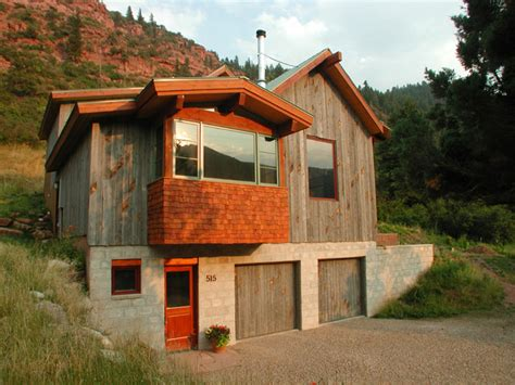 Cabin Bathrooms Ideas by Mountain Cabin Rustic Exterior Other Metro By