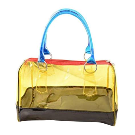 Fashion Bag 2in1 Bn8896 s jelly clear transparent bag pvc 2in1 fashion handbags purses bag ebay