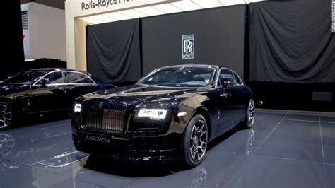 black rolls royce this rolls royce has a snarl