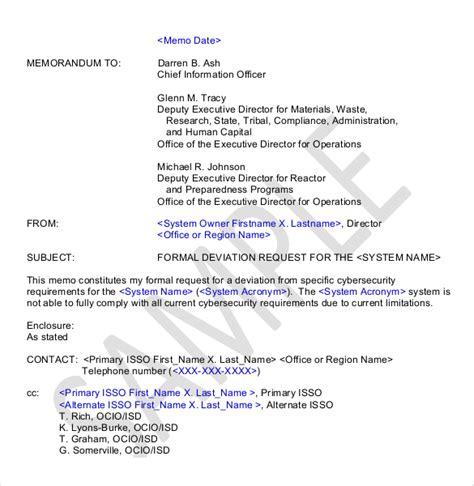 Memo Template Request 10 Formal Memorandum Templates Free Sle Exle Format Free Premium Templates