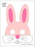 printable blue bunny mask i might need to use this shape
