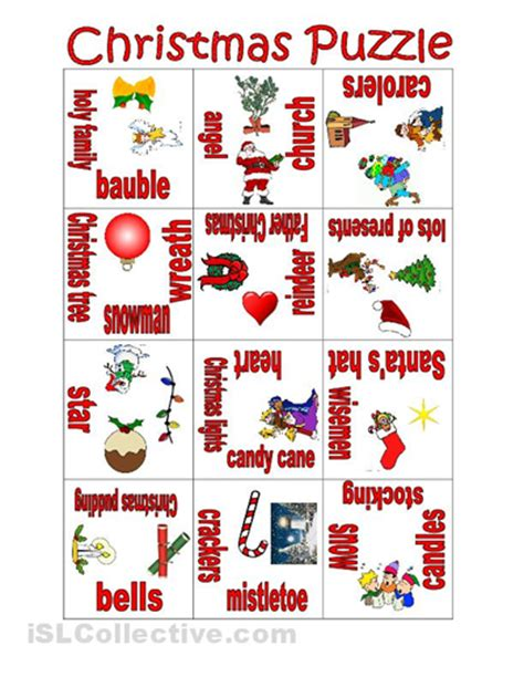 free printable christmas crossword games 7 best images of elementary art crossword printables