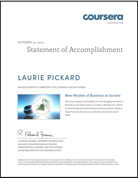 Coursera Mba Application by What Is The Value Of A Coursera Statement Of Accomplishment