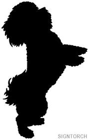 risultati immagini  dog silhouette poodle silueta de