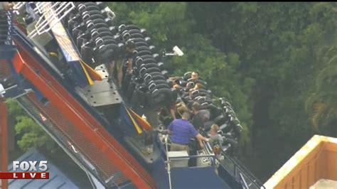 roller coaster stuck at busch gardens ta