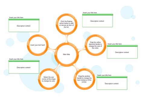 Circle Spoke Diagram Modify The Circle Spokes Easily Free Circular Organizational Chart Template