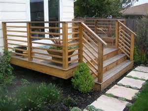 Patio Railings Designs by 25 Best Ideas About Wood Deck Designs On Pinterest Deck