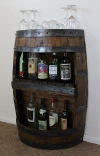 whiskey barrel bar with shelf reclaimed whiskey barrel bar
