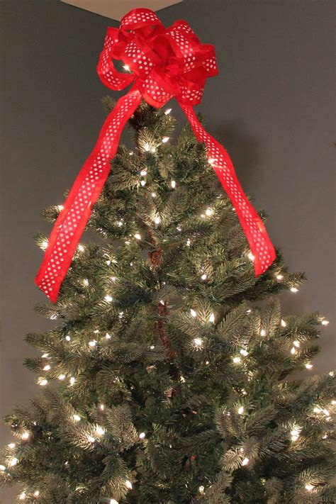 burlap with lace christmas tree bow topper tutorial