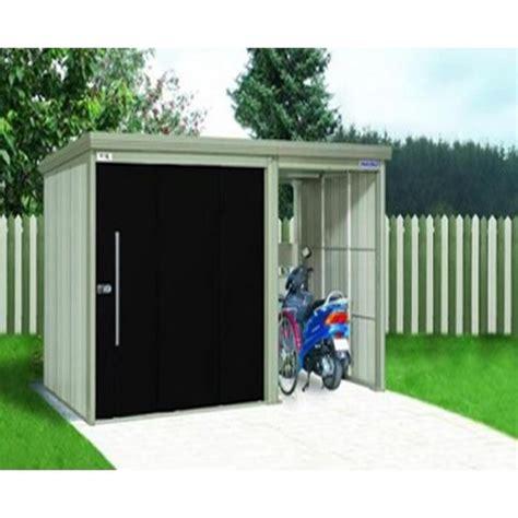 abri jardin acier abri de jardin en acier galvanis 233 avec portes noires 382 x 249 x 211 cm achat vente abri de