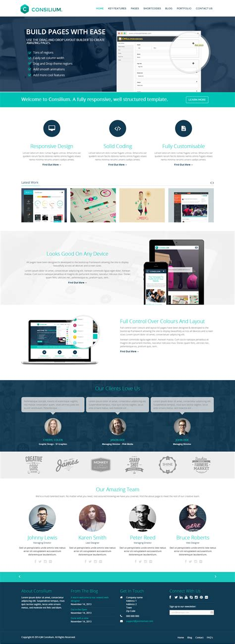 drupal theme evolve 25 best responsive parallax scrolling drupal themes 2014