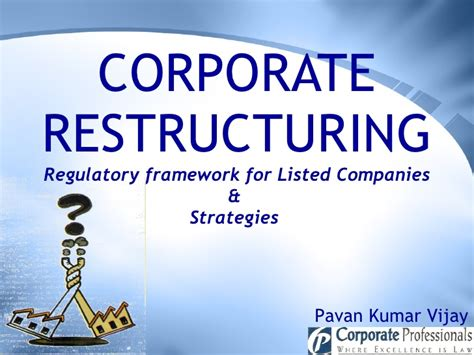 Restructuring Mba by Corporate Restructuring Regulatory Framework For Listed