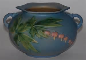 roseville pottery bleeding heart blue bowl for sale