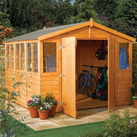 Workshop Garden Shed by 9 5 Quot X 18 4 Quot Ft 2 9 X 5 6m Wooden Shiplap Apex Garden Shed Workshop Westmount Living