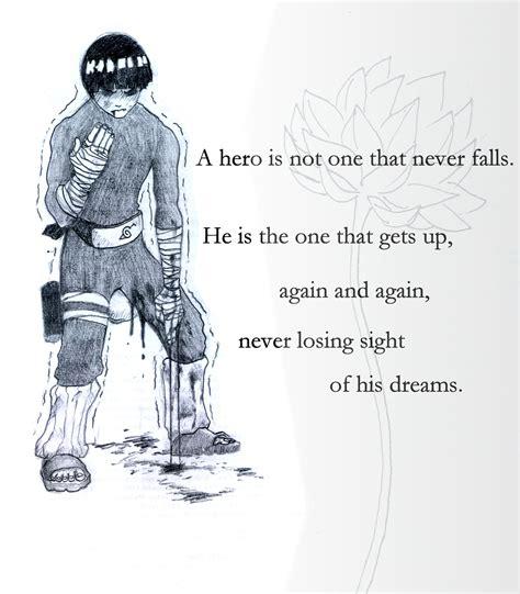 design my dream guy rock lee quotes quotesgram