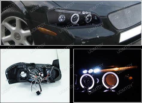 2000 nissan maxima headlight 00 01 nissan maxima black dual halo rings projector led