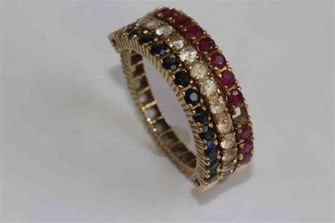 multi gem hinged eternity ring watson auctioneers