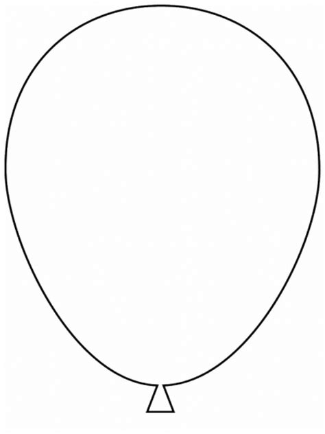 Simple Shapes Balloon Coloring Pages Balloons Coloring Pages
