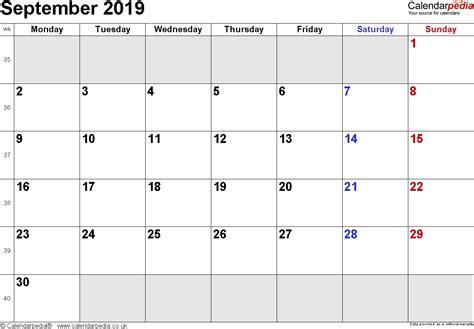 september 2019 calendar calendar september 2019 uk bank holidays excel pdf word
