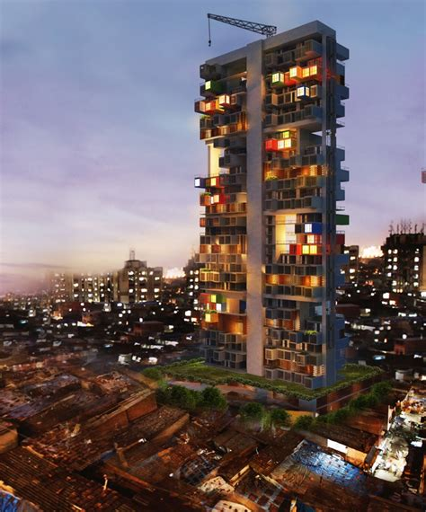 Shipping Containers As Housing Solution In Dharavi Slum   Ganti & Associates   Arch2O.com