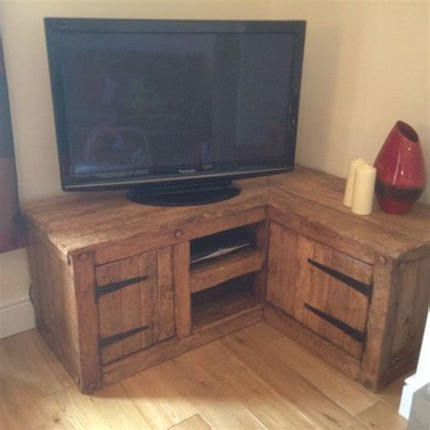 l on a stand 1000 ideas about tv stand corner on wood