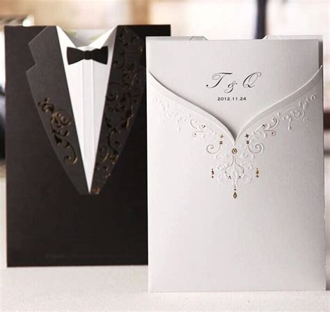new style wedding cards new arrival personalized design the and groom dress