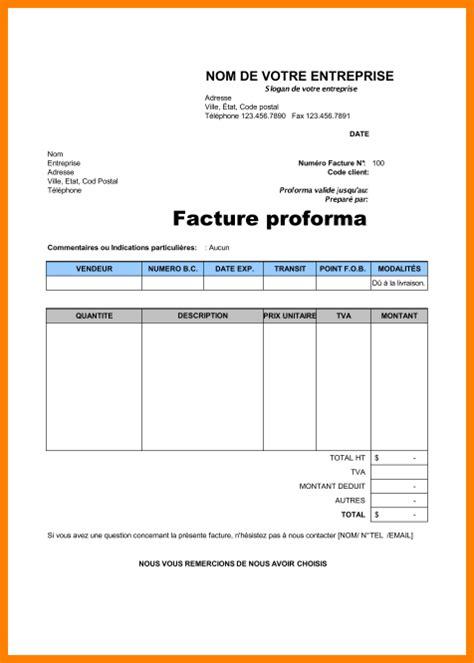 Exemple De Lettre De Demande De Facture Proforma 8 Facture Proforma Mod 232 Le Lettre Officielle