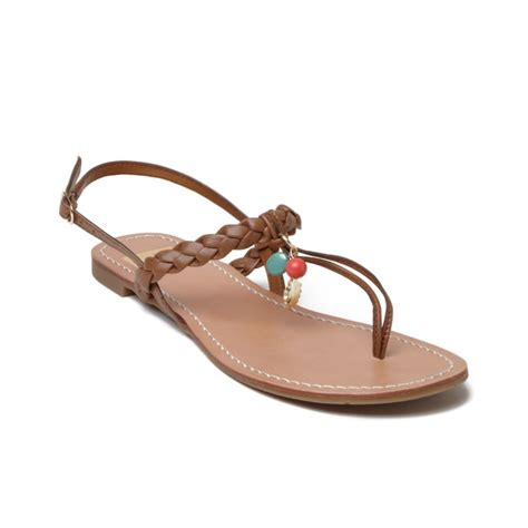 dolce vita flat sandals dolce vita doris flat sandals in brown lyst
