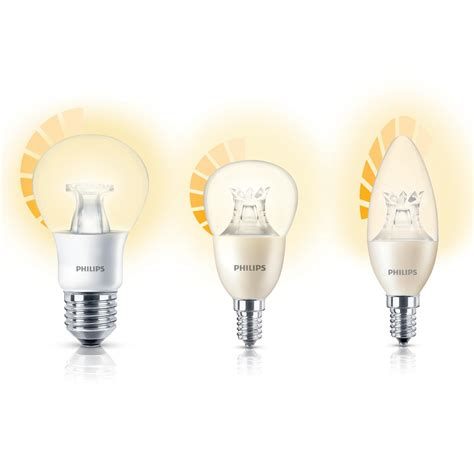 philips led warm glow e14 small edison dimmable candle light bulb 4 w 25 w warm white