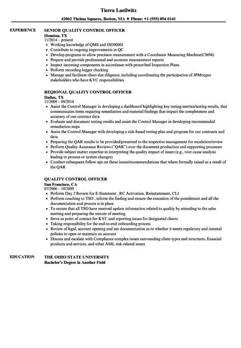 quality officer resume format quality resume exles annecarolynbird