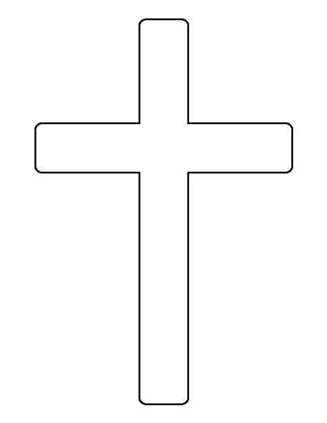 Cross Pattern Use The Printable Outline For Crafts Crosswalk Paint Template