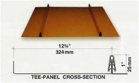 tee section metal standing seam