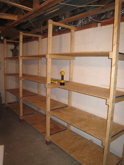 building basement shelves build wooden storage shelves garage woodworking projects