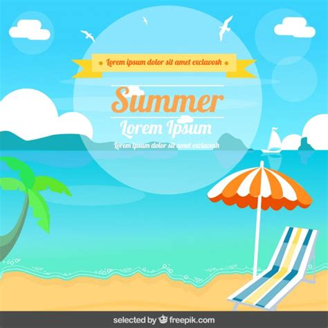 design summer year definition ilustraci 243 n de verano en dise 241 o plano descargar vectores