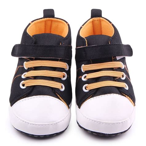 Baby Crib Sneakers Baby Boy Soft Sole Football Crib Shoes Sneakers Canvas Walking Shoes Ebay
