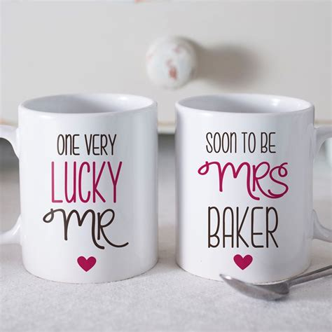 Gift For From - personalised set of 2 mugs soon to be gettingpersonal