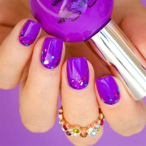 imagenes de uñas pintadas en color rosa 15 dise 241 os para lucir unas elegantes u 241 as color morado